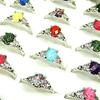 wholesale jewerly Lots of 20pcs Acrylic with silver plated fashion rings mix size