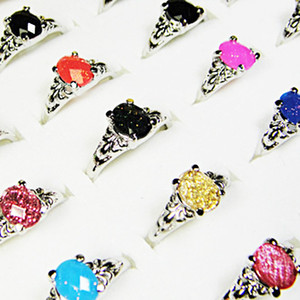 Wholesale 2016 NEW Jewelry Mix Color Acrylic Silver Resin Fashion Rings A