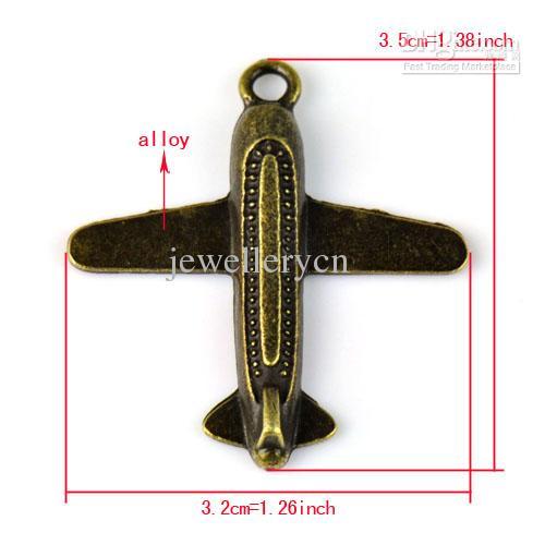 20st Antik Bronsluft Vanliga smycken Charms för DIY smycken gör charm tillbehör 1.38 x1.26 tum pt-715