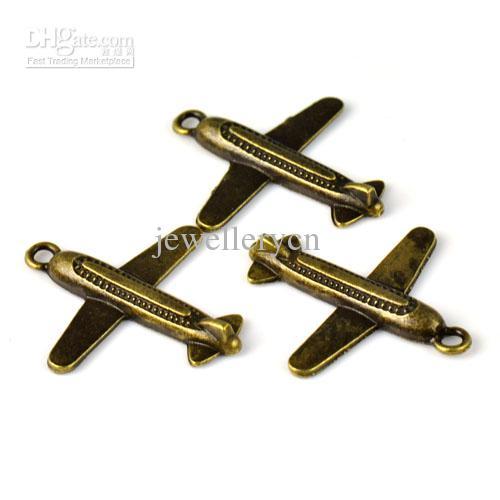 antigos de ar bronze encantos jóias simples para DIY fazer jóias charme acessórios 1,38 x1.26 polegadas PT-715