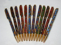 Wholesale Chinese Cloisonne - NEW 12 pcs TRADITIONALHANDMADE CHINESE CLOISONNE BALL PEN-Flower