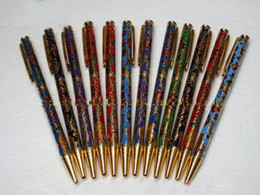Wholesale Cloisonne Flowers - NEW 12 pcs TRADITIONALHANDMADE CHINESE CLOISONNE BALL PEN-Flower