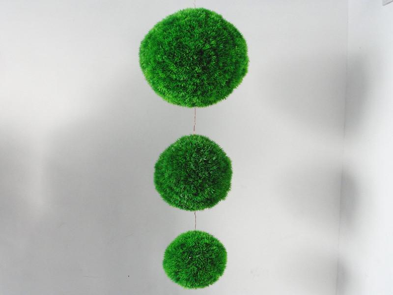 25cm artificiell i utomhus tall nål boxwood boll grön gräs boll topiary växt