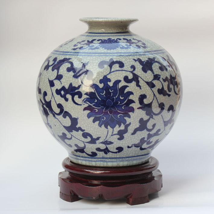 Jingdezhen Ceramic Blue And White Porcelain Antique Crack Glaze
