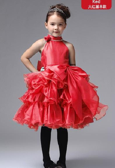 Best Red Christmas Holiday Bridesmaid Wedding Party Pageant Flower ...