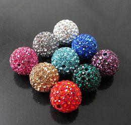Wholesale Diy Loose Ceramic Beads - Mixed wholesale - 100 pcs 10 mm crystal beads DIY loose beads, Shambhala diamond jewelry Disco ball