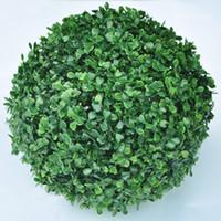 ingrosso impianto di boxwood-30 centimetri di plastica artificiale verde palla di bosso palla di bosso all'aperto decorazione interna pianta