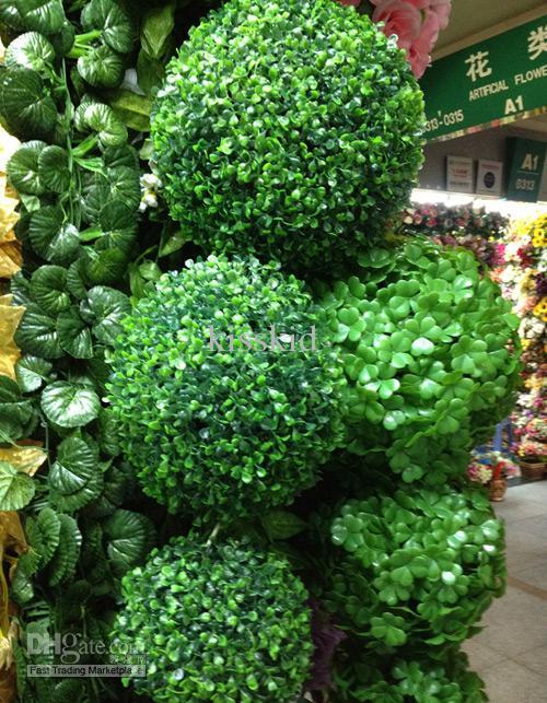 25cm di plastica verde palla di bosso palla di bosso artificiale pianta di decorazione interna all'aperto