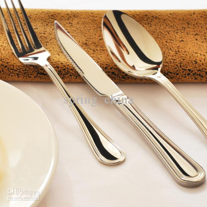 tableware cutlery sets steak knife fork spoon set tableware stainless steel cutlery set. Black Bedroom Furniture Sets. Home Design Ideas