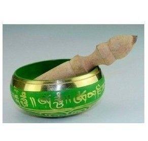 Partihandel Billiga Divine Healing Grade Tibetan Green Singing Bowls