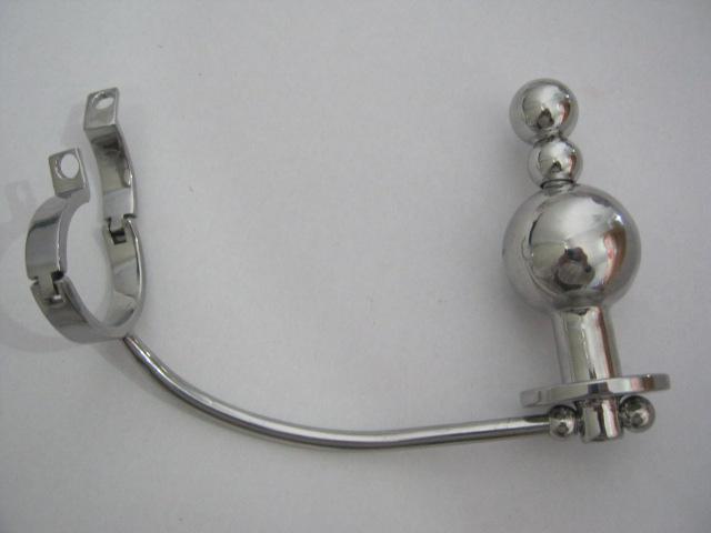 カテーテル純粋なベルト装置BDSMセックストイズA046の男性のステンレス鋼の調節可能なアナルプラグバットビーズコックペニスケージ
