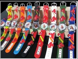 Wholesale watch spider - Spider Men Spiderman Unisex Fashion Kids Wristwatch Children 3D Candy Jelly Silicone Watch Best Gift