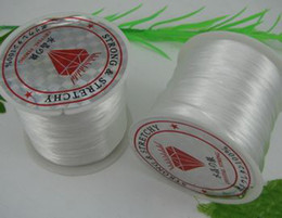Wholesale Wholesale Stretch String - 5rolls WHITE STRETCH ELASTIC beading CORD string (0094)