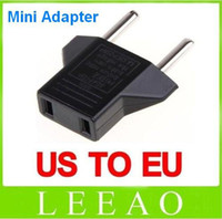 Wholesale 1000pcs Universal USA US to EU Euro Plug Power Converter Travel Charger Adapter Black