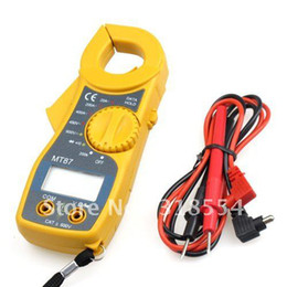 Wholesale Multimeter Electronic Tester Ac Dc - 25pcs lot # Multimeter Electronic Tester AC DC Current DIGITAL CLAMP Meter MT87 Free Shipping