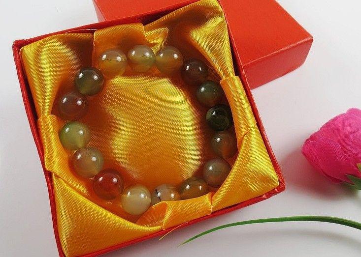 Caja de regalo de la caja cuadrada de la caja de la pulsera de 20pcs 9X9CM caja de la joya roja