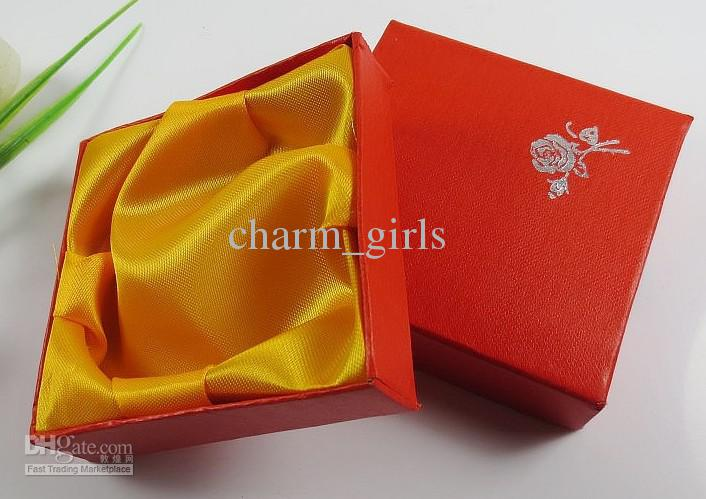 20pcs 9X9CM 빨간색 보석 상자 팔찌 상자 사각형 상자 선물 상자