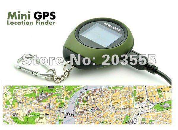 Super Deal Envío gratuito Mini buscador de ubicación GPS con llavero PG03 utilizado para deportes al aire libre