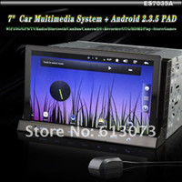 "Wholesale Tablet Car Dvd Player - FREE SHIPPING 7"" Double Din HD GPS Car DVD Player BT TV + WiFi 3G Android 2.3.6 PAD MID Tablet (PAD"