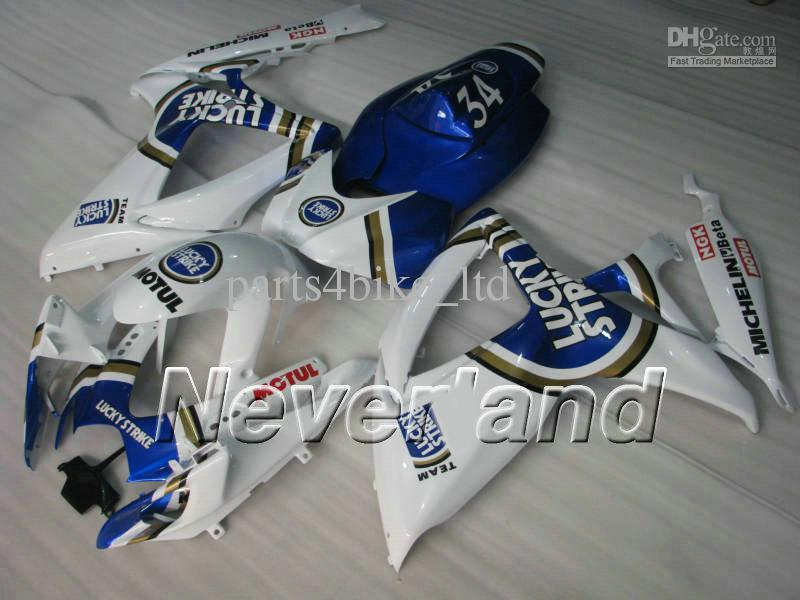 Suzuki GSXR600 750 2006 için şanslı grev 2007 GSX-R K6 GSX-R600 GSXR750 06 07 fairings kiti K6W