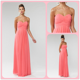 Wholesale Sweetheart Ruched Fold Prom Dress - 2017 New Style Sweetheart pink ruffle fold floor length formal briesmaid evening prom dresses gowns
