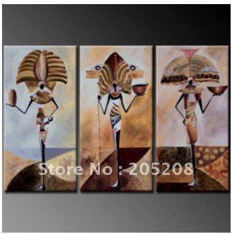 Three Panel Wall Art 2017 framed 3 panel wall art modern oil painting on canvas african