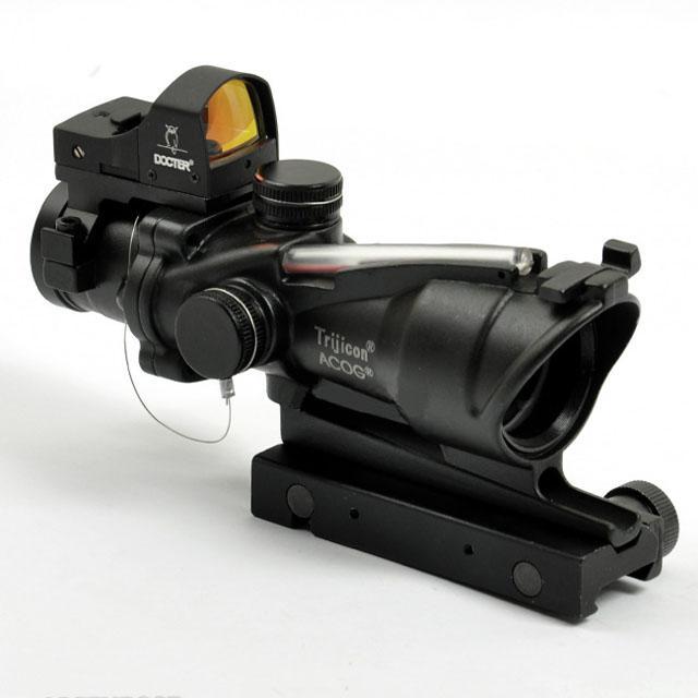 Acog TA31 4X32範囲の範囲の自動赤いドットライフル赤いドットリフレコープ黒