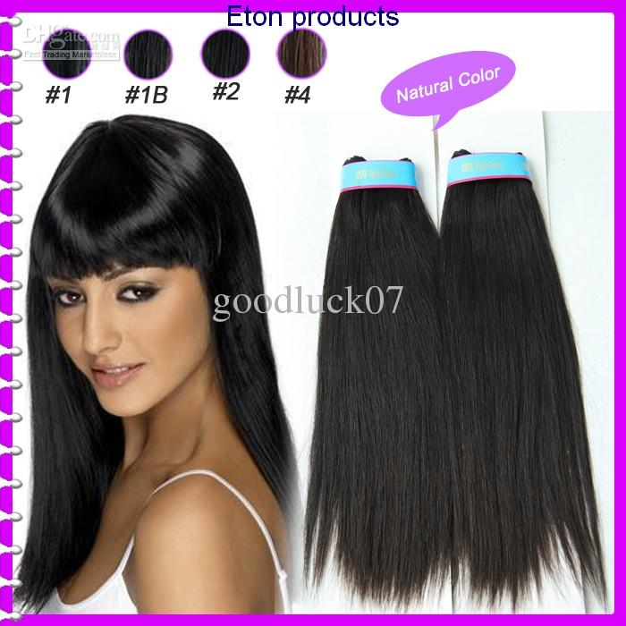 Eton Peruvian Remy Virgin Human Hair Extension Weave 12 Inch Natural