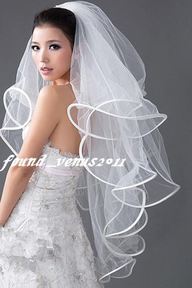 Ivory 4T Wedding Bridal Veil With Comb