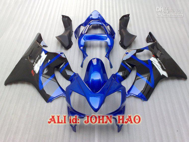 Azul para Honda CBR600F4i 01-03 CBR600 F4i 01 02 03 2001 2002 2003 carenagem kit Carroçaria + kit vento