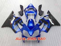 Blu per Honda CBR600F4i 01-03 CBR600 F4i 01 02 03 2001 2002 2003 kit carenatura Carrozzeria + kit vento