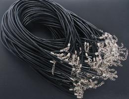 Fermaglio in cordino per collana in pelle cerata 100 pezzi 45 + 5cm 1.5mm cordoncino in cuoio fatto a mano da