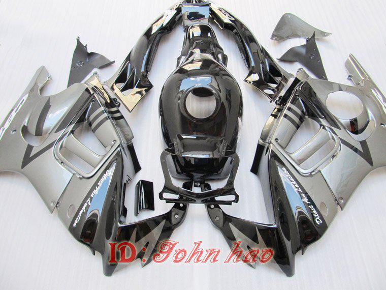 Prata Preta para Honda CBR600F3 95-96 CBR 600F3 1995-1996 CBR600 600 F3 95 96 1995 1996 Kit de Feira
