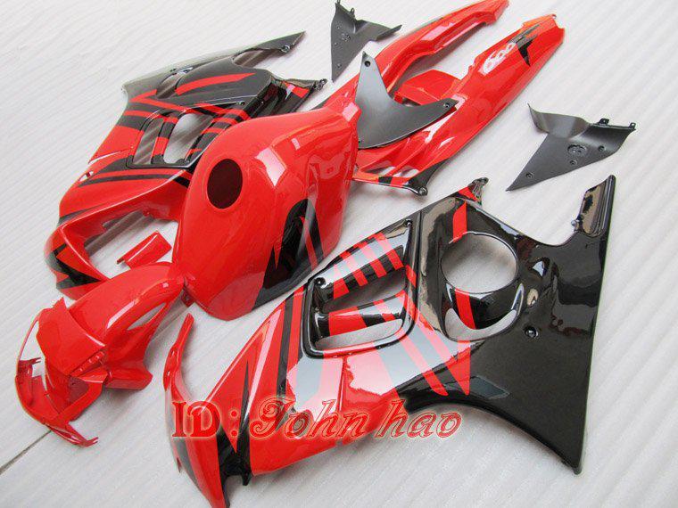 Svart röd för Honda CBR600F3 95-96 CBR 600F3 1995-1996 CBR600 600 F3 95 96 1995 1996 Fairing Kit Fre