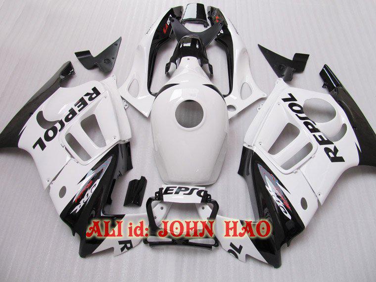 HONDA CBR600F3 97-98 CBR Beyaz Siyah Pepsol kaportalar 600F3 1997-1998 CBR600 600 F3 97 98 1997 1998 Motosiklet kaporta parçaları