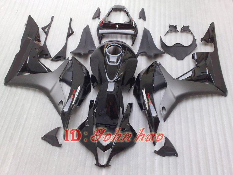All Black Body Injection Mold Bodywork för CBR600RR F5 2007 2008 07 08 CBR600 07-08 ABS FAIRING KIT
