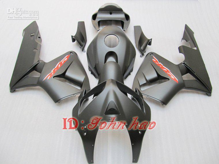 Cuerpo negro mate Carrocería de moldes de inyección PARA CBR600RR F5 2005 2006 05 06 Kit de carenado CBR600 ABS + fre