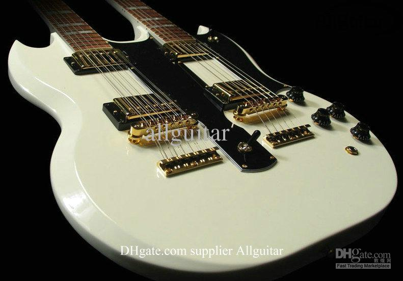 alpine white 12 strings guitar 1275 custom shop double neck 6 strings 12 strings electric. Black Bedroom Furniture Sets. Home Design Ideas