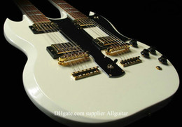 Wholesale Double Neck Guitar Custom - Alpine White 12 strings Guitar 1275 Custom SHOP Double Neck 6 strings & 12 strings Electric Guitar