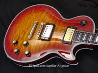 Wholesale Electric Guitars Abalone Binding - Deluxe Custom Shop Sunburst burst Abalone Binding Body electric guitar best Musical Instruments