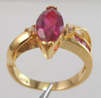 Wholesale 14k Solid Ring - Wholesale - - Fashion Jewelry womens ring 2.76ct ruby gemstone ring diopside rings solid 14k yellow gold