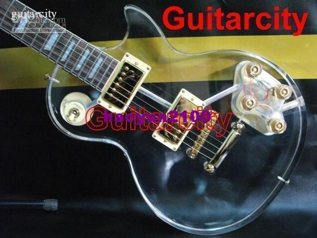 transparent acrylic glass body shape electric guitar free ship acoustic electric guitars for. Black Bedroom Furniture Sets. Home Design Ideas