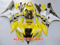 ingrosso giallo nero r6-Giallo Nero per Yamaha YZF-R6 06-07 YZF R6 YZFR6 YZF 600 YZF-600 06 07 Kit carenatura completa F