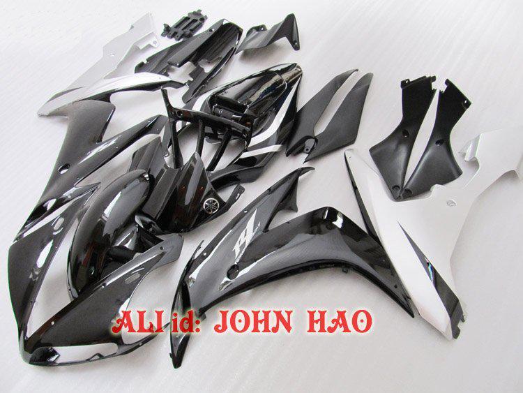 Blackwhite för YZF-R1 04-06 YZF R1 YZFR1 1000 YZF1000 04 05 06 2004 2005 2006 Full Fairing Kit