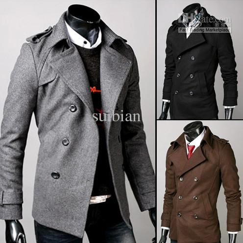 2017 New Men's Clothing Casual Trench Coats Men Korean Slim Men Of ...