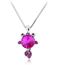 Wholesale Sell Swarovski Necklace - Hot sell!Amazing crystal necklace Swarovski element free goldfish Elegant Necklace