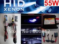 xenon gizli dönüştürme kiti 12v toptan satış-Otomatik HID Far Sis Lambası XENON HID Dönüşüm Kiti 12 v 55 W H11 10000 K HID Xenon Kiti ampul balast