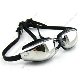 Men and Women Large Frame Swimming Goggles Anti-fog Electroplate Swimming Glasses For Myopia