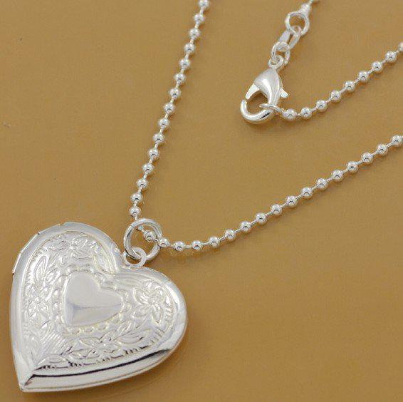 Wholesale hotsale 925 silver heart locket pendant necklace pn509 wholesale hotsale 925 silver heart locket pendant necklace pn509 gold necklace heart necklace from jerrycao 544 dhgate aloadofball Image collections