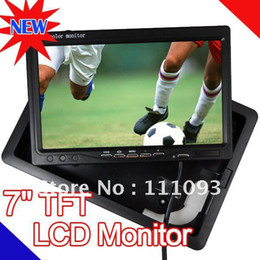 """Wholesale Stand Tft Lcd Monitor - FREE SHIPPING New 7"""" TFT LCD Screen Color Monitor f DVD GPS Camera Headrest Pillow or Stand"""